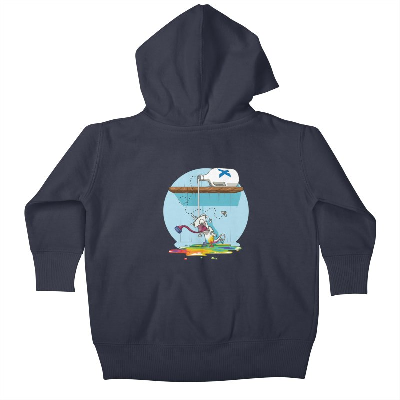 Gluttony goes colorless Kids Baby Zip-Up Hoody by Llorch's Shop