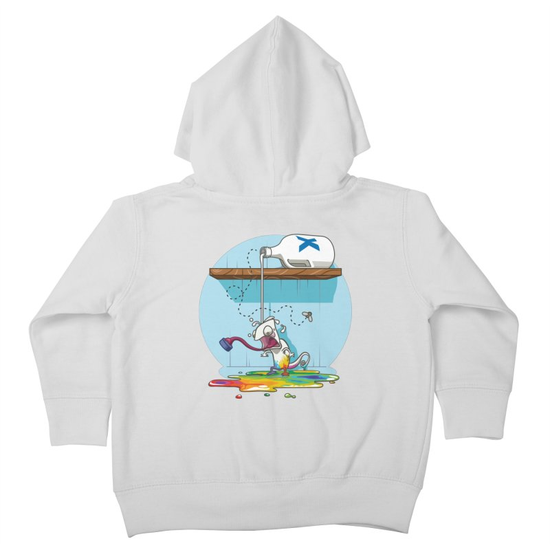 Gluttony goes colorless Kids Toddler Zip-Up Hoody by Llorch's Shop
