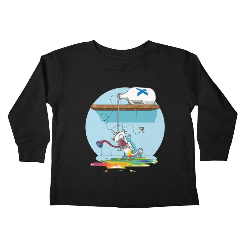 Gluttony goes colorless Kids Toddler Longsleeve T-Shirt by Llorch's Shop