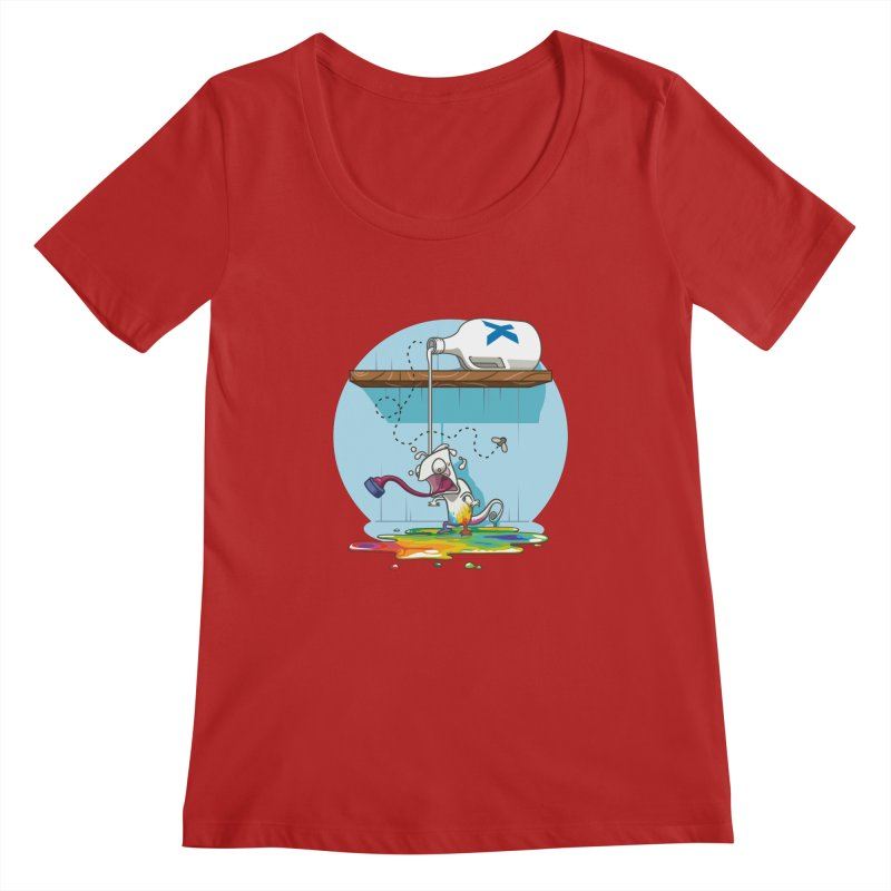 Gluttony goes colorless Women's Scoopneck by Llorch's Shop