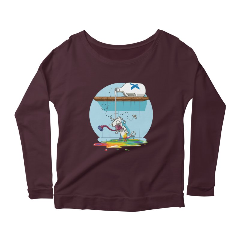 Gluttony goes colorless Women's Longsleeve Scoopneck  by Llorch's Shop