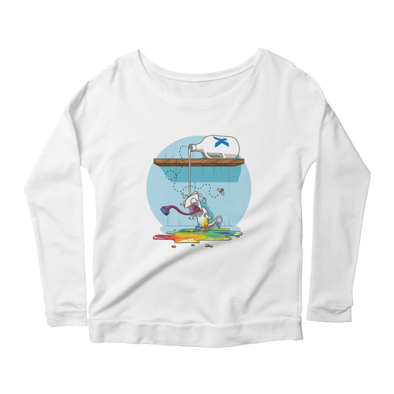 Gluttony goes colorless Women's Scoop Neck Longsleeve T-Shirt by Llorch's Shop