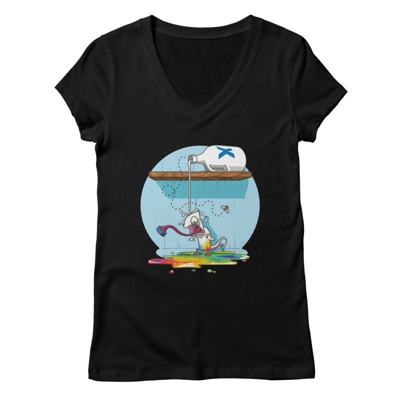 Gluttony goes colorless Women's V-Neck by Llorch's Shop