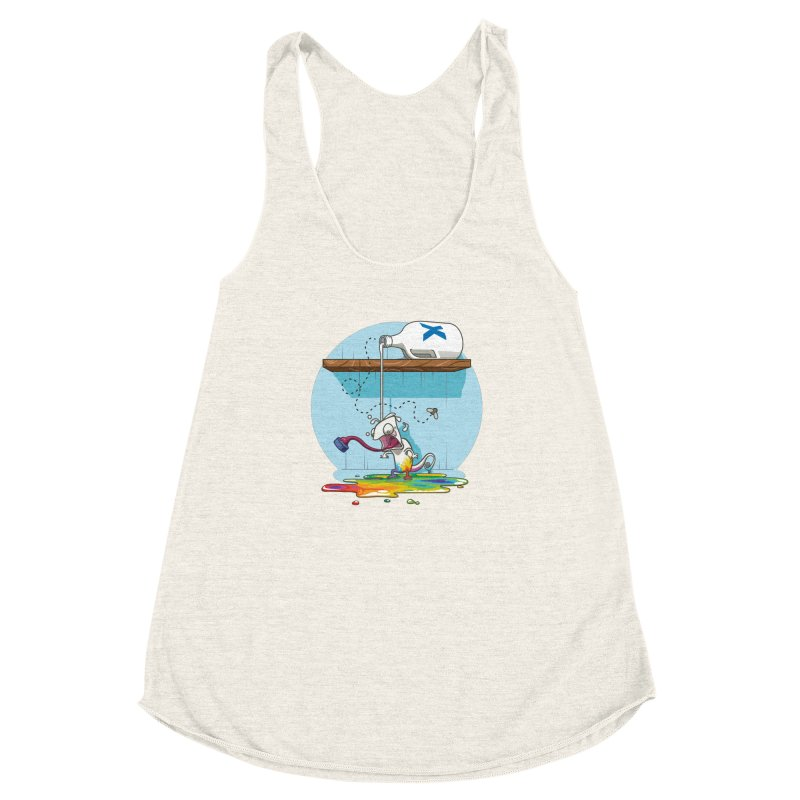 Gluttony goes colorless Women's Racerback Triblend Tank by Llorch's Shop