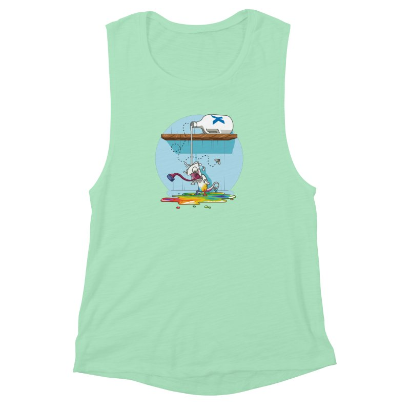 Gluttony goes colorless Women's Muscle Tank by Llorch's Shop