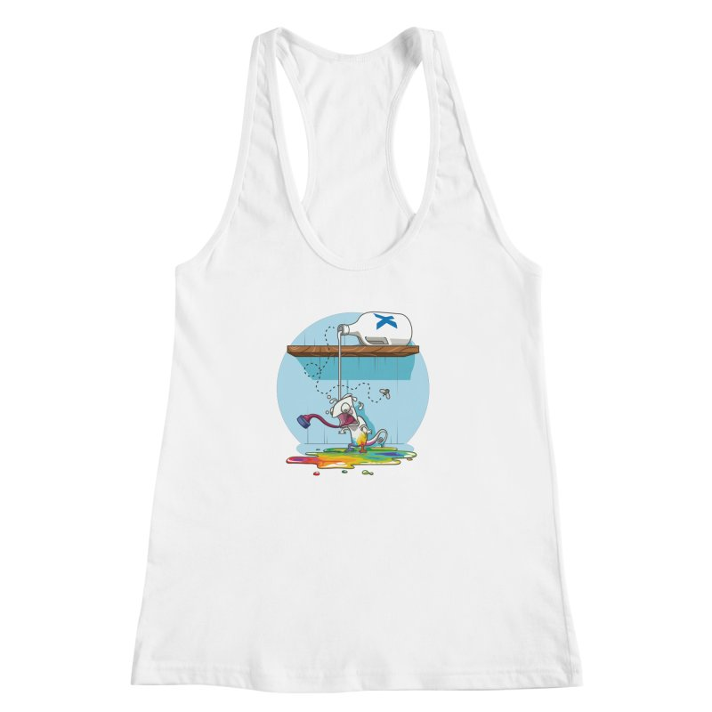 Gluttony goes colorless Women's Racerback Tank by Llorch's Shop