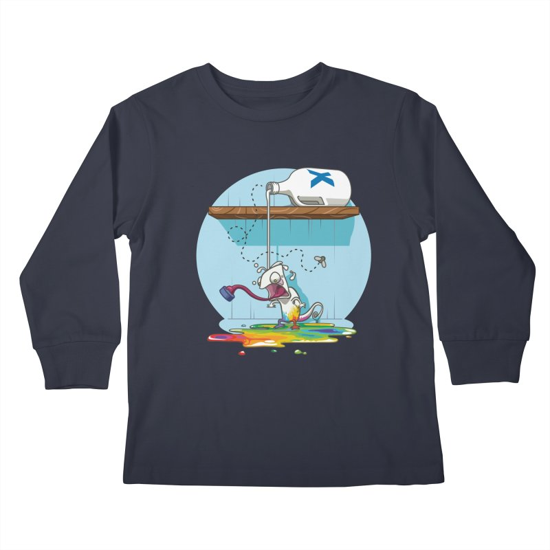 Gluttony goes colorless Kids Longsleeve T-Shirt by Llorch's Shop
