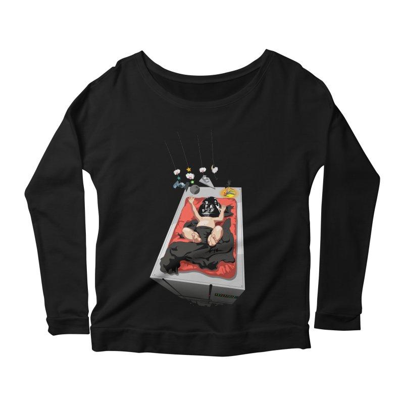 Dark child Women's Scoop Neck Longsleeve T-Shirt by Llorch's Shop