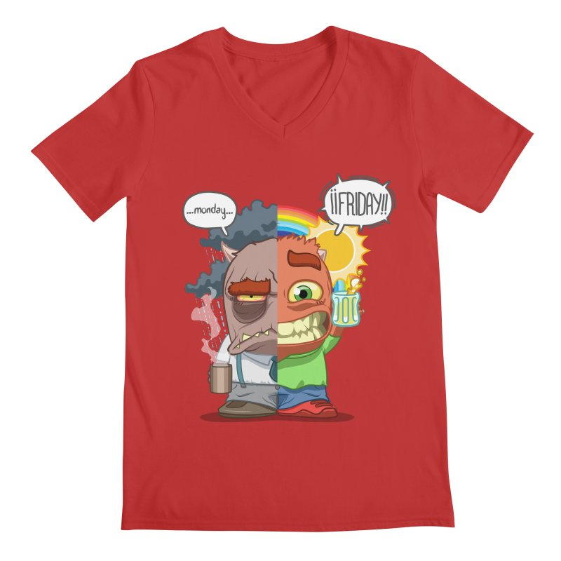 Dr. Monday and Mr. Friday Men's V-Neck by Llorch's Shop