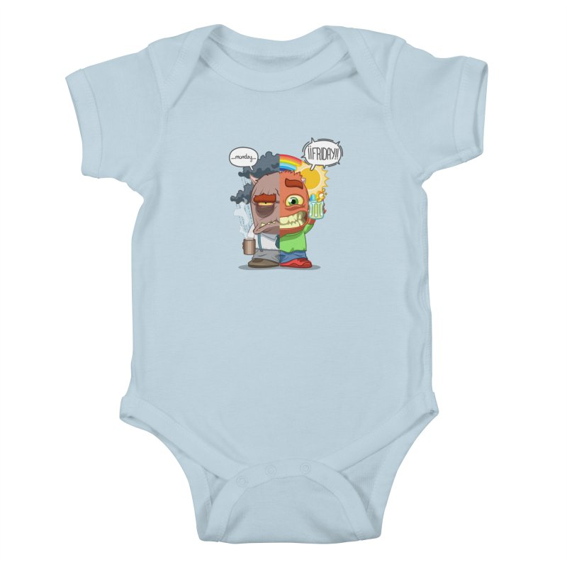 Dr. Monday and Mr. Friday Kids Baby Bodysuit by Llorch's Shop