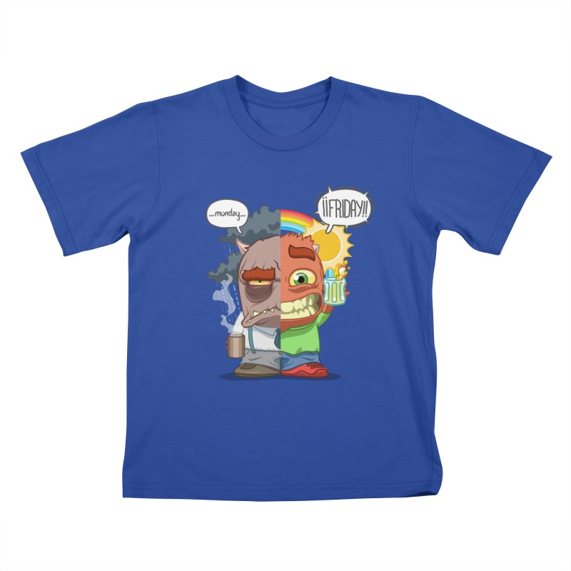 Dr. Monday and Mr. Friday Kids T-Shirt by Llorch's Shop