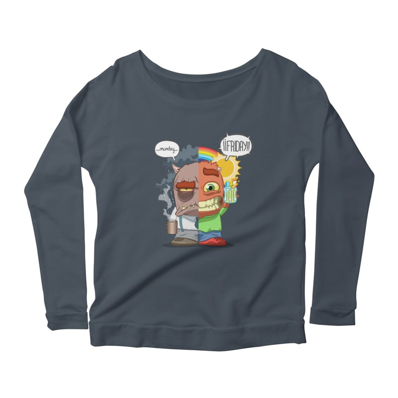 Dr. Monday and Mr. Friday Women's Longsleeve Scoopneck  by Llorch's Shop