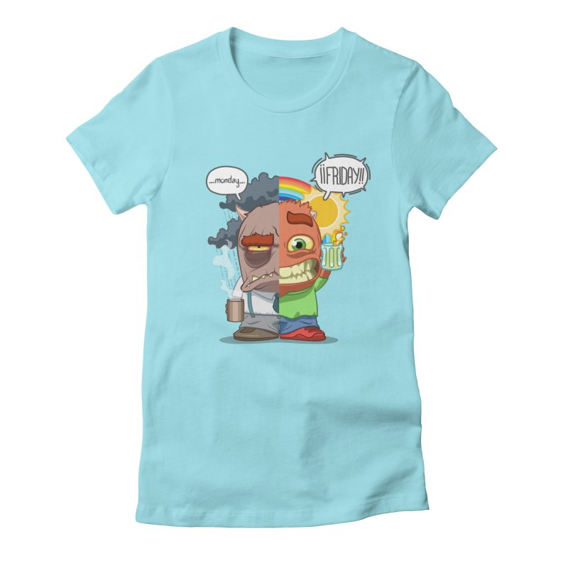 Dr. Monday and Mr. Friday Women's Fitted T-Shirt by Llorch's Shop