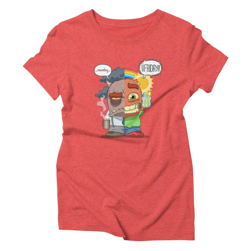 Dr. Monday and Mr. Friday Women's Triblend T-Shirt by Llorch's Shop