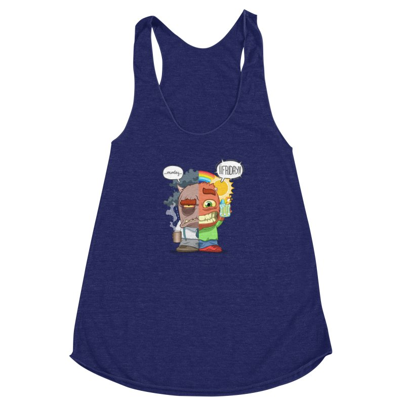 Dr. Monday and Mr. Friday Women's Racerback Triblend Tank by Llorch's Shop