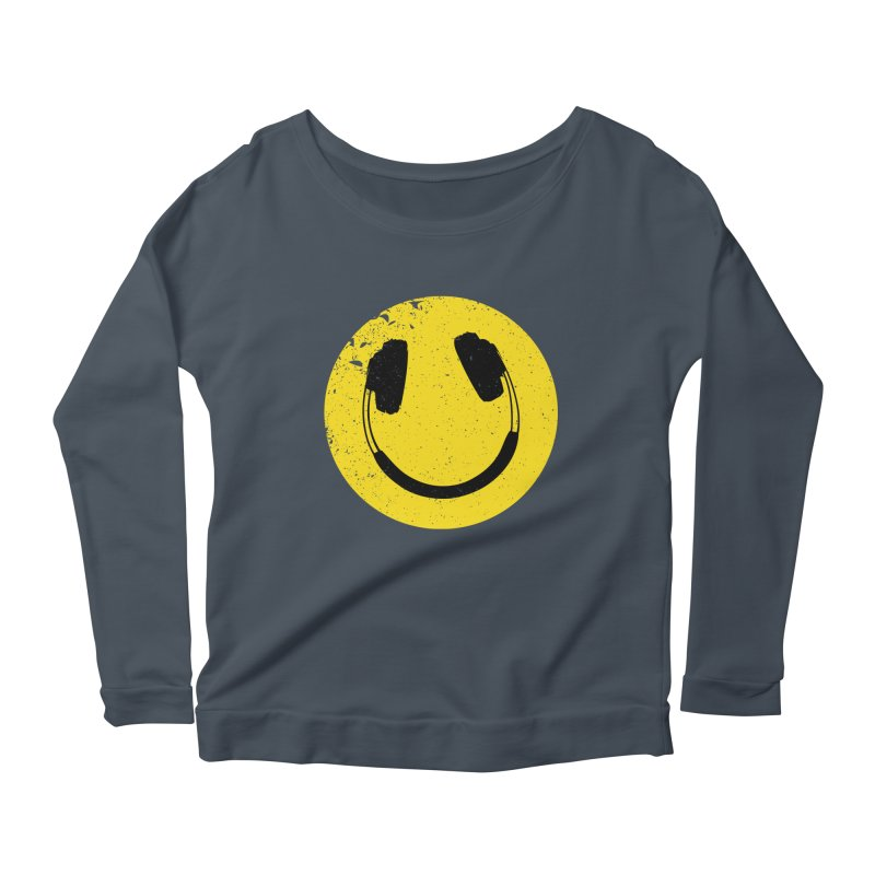 Music makes me feel good! Women's Scoop Neck Longsleeve T-Shirt by Llorch's Shop
