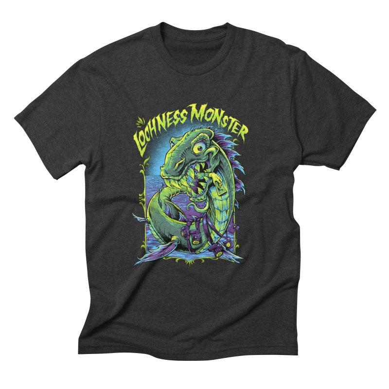 Hungry Lochness Monster Men's Triblend T-Shirt by LochnessMonster's Artist Shop