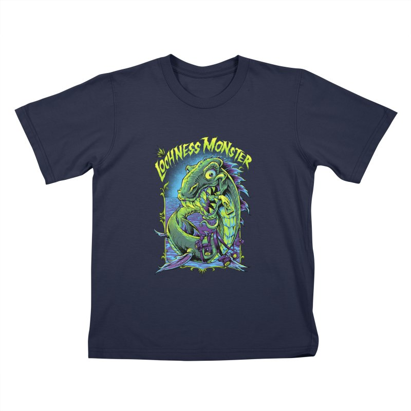 Hungry Lochness Monster Kids T-Shirt by LochnessMonster's Artist Shop