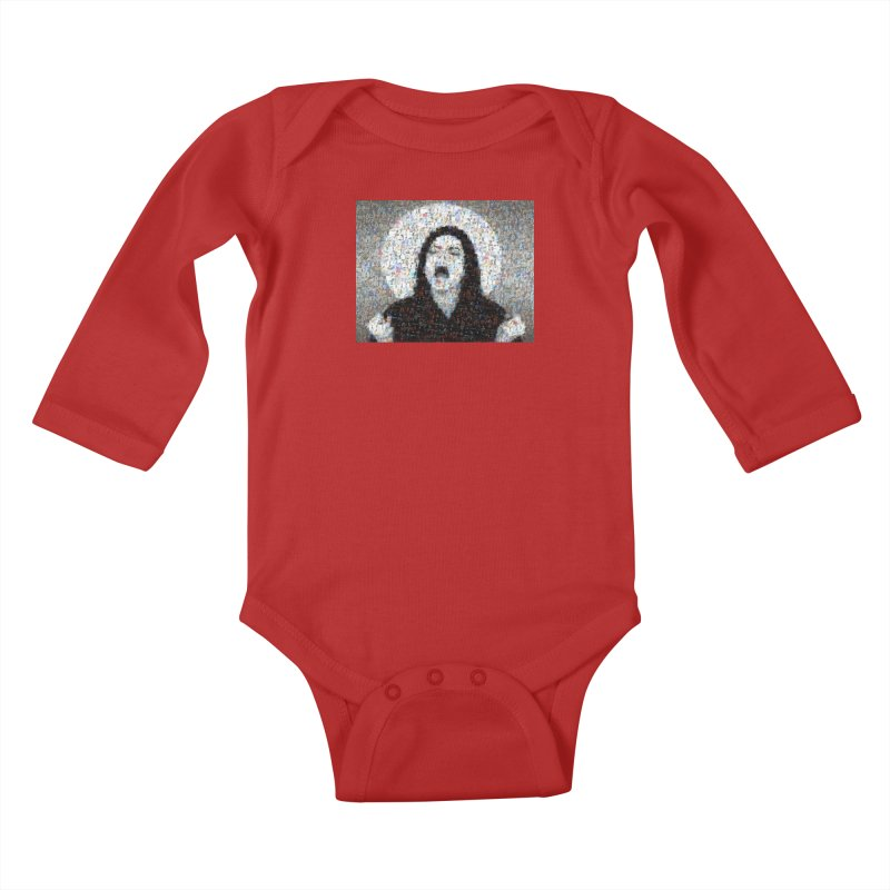 Michael Jackson Scream Mosaic Kids Baby Longsleeve Bodysuit by Loganferret's Artist Shop