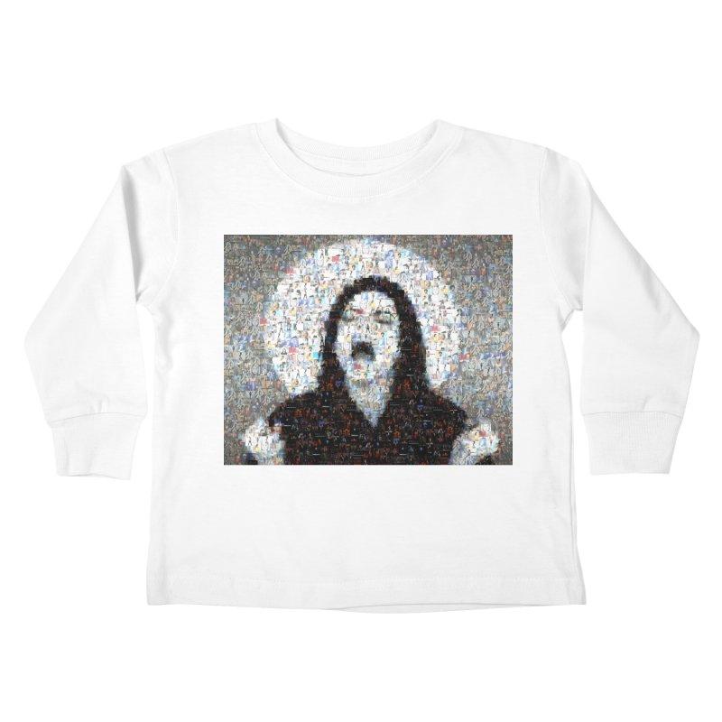 Michael Jackson Scream Mosaic Kids Toddler Longsleeve T-Shirt by Loganferret's Artist Shop
