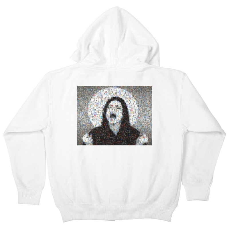 Michael Jackson Scream Mosaic Kids Zip-Up Hoody by Loganferret's Artist Shop