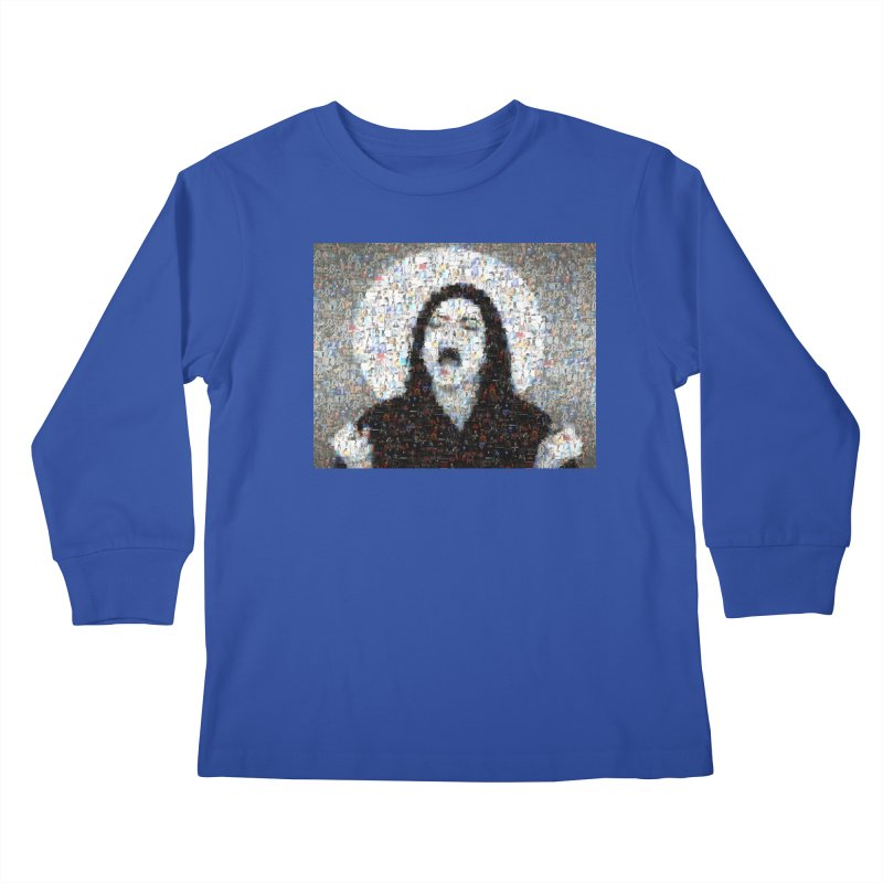 Michael Jackson Scream Mosaic Kids Longsleeve T-Shirt by Loganferret's Artist Shop