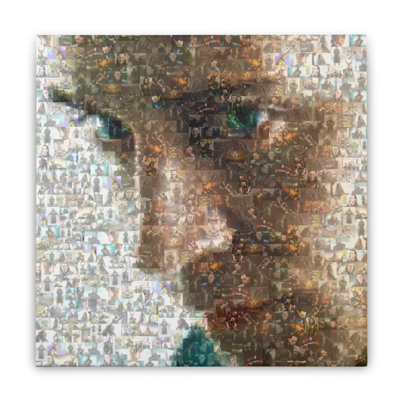 Loki God of Mischief Mosaic Home Stretched Canvas by Loganferret's Artist Shop