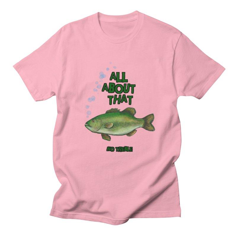 All About That Bass in Men's Regular T-Shirt Light Pink by Loganferret's Artist Shop