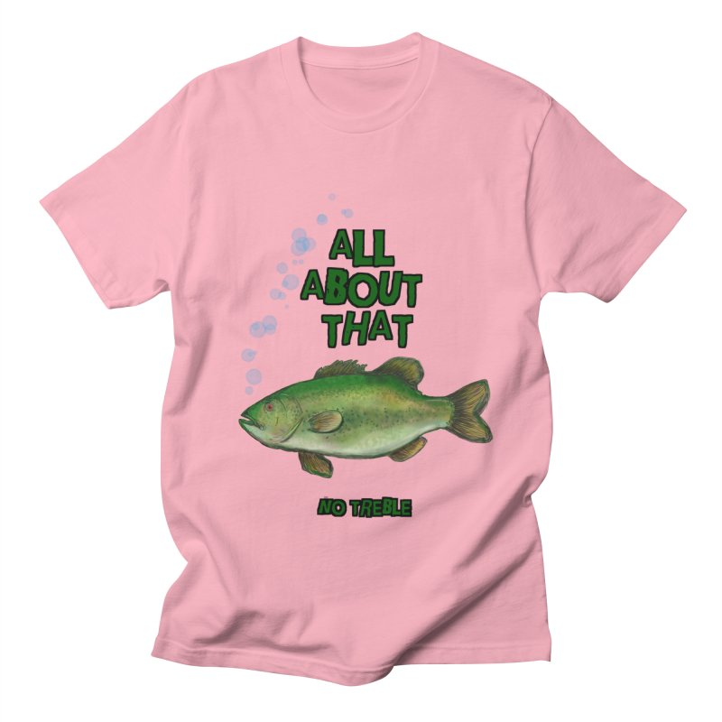 All About That Bass in Men's T-Shirt Light Pink by Loganferret's Artist Shop