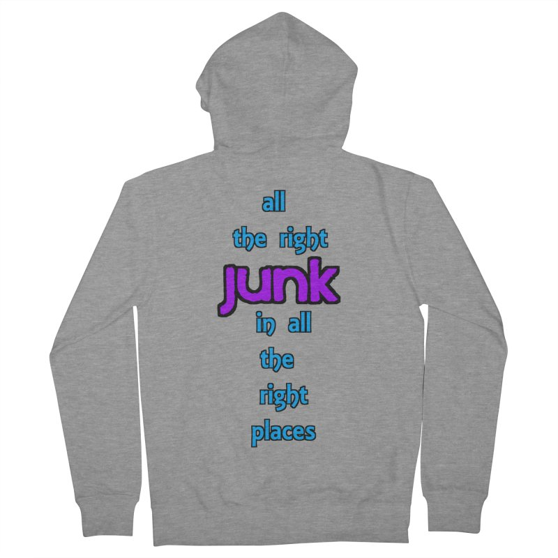 All the right junk... Men's Zip-Up Hoody by Loganferret's Artist Shop