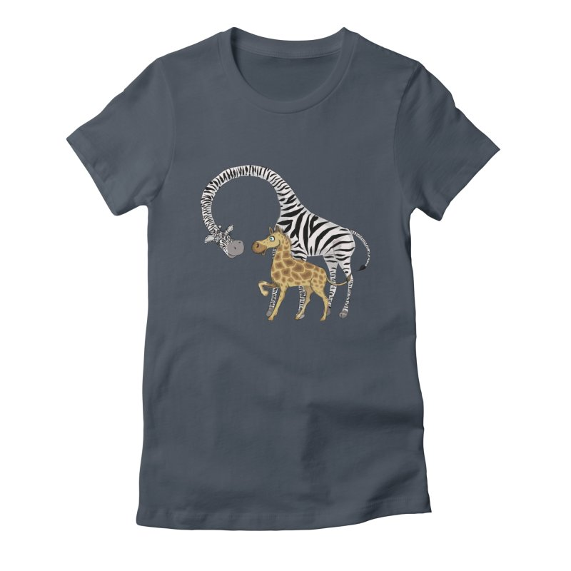 Pyjama Party in Women's Fitted T-Shirt Denim by Loganferret's Artist Shop