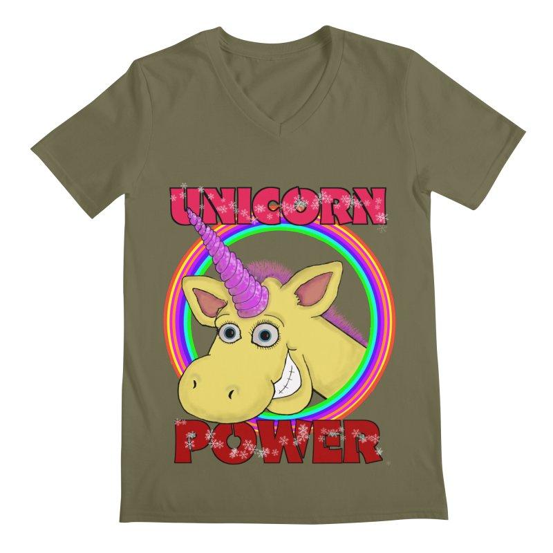 Unicorn Power Men's V-Neck by Loganferret's Artist Shop