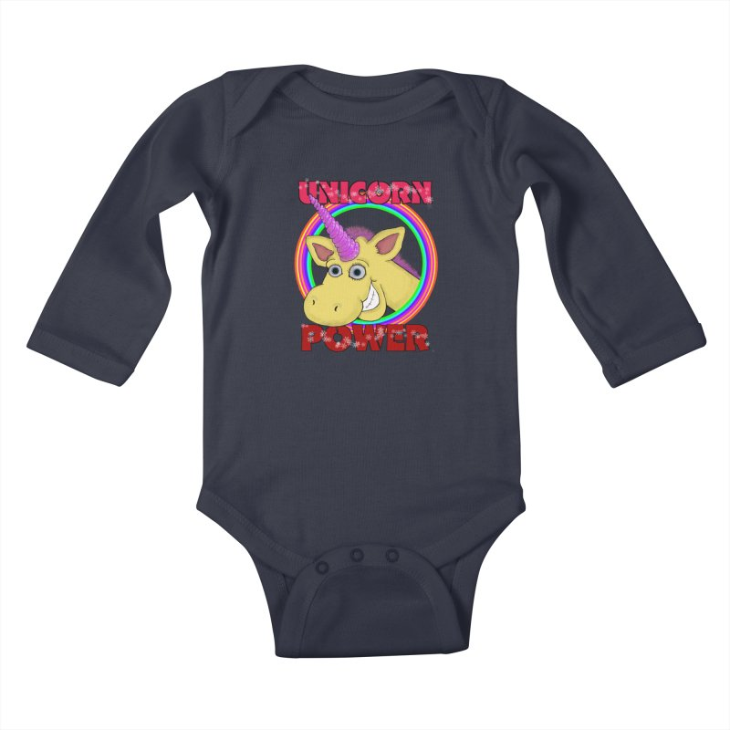 Unicorn Power Kids Baby Longsleeve Bodysuit by Loganferret's Artist Shop