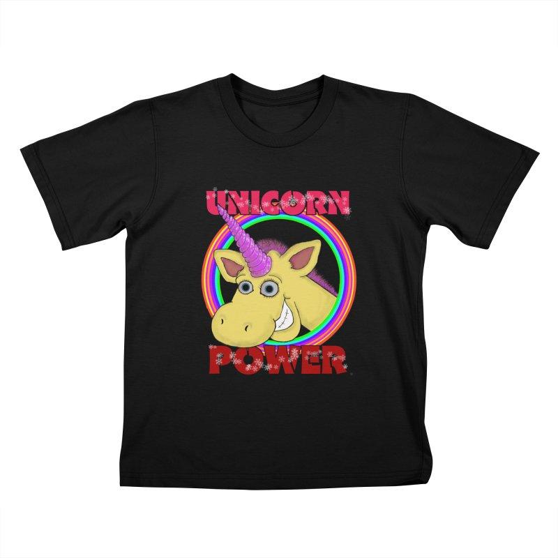Unicorn Power Kids T-shirt by Loganferret's Artist Shop