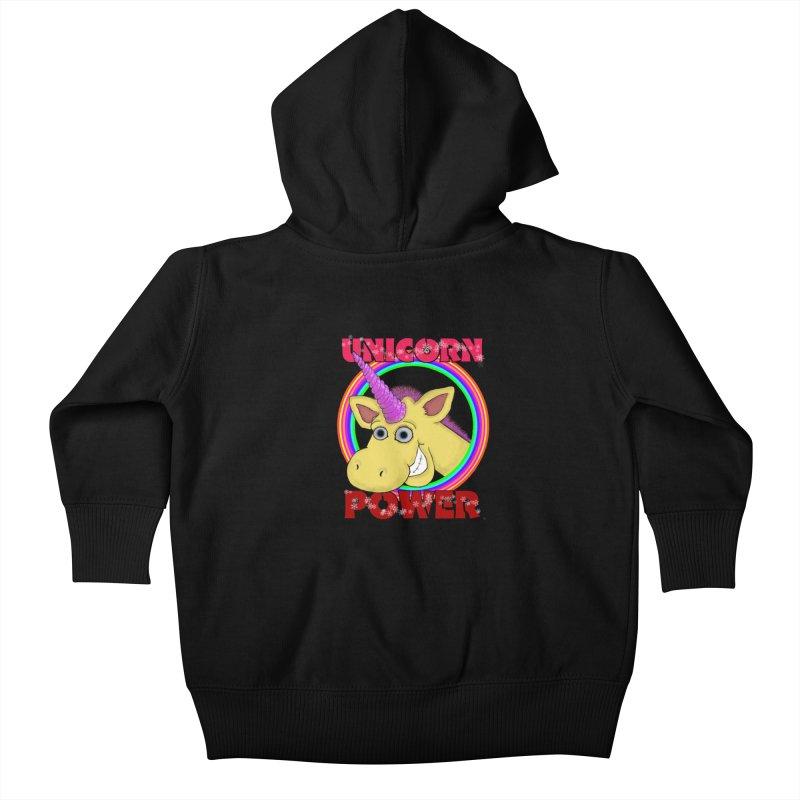 Unicorn Power Kids Baby Zip-Up Hoody by Loganferret's Artist Shop