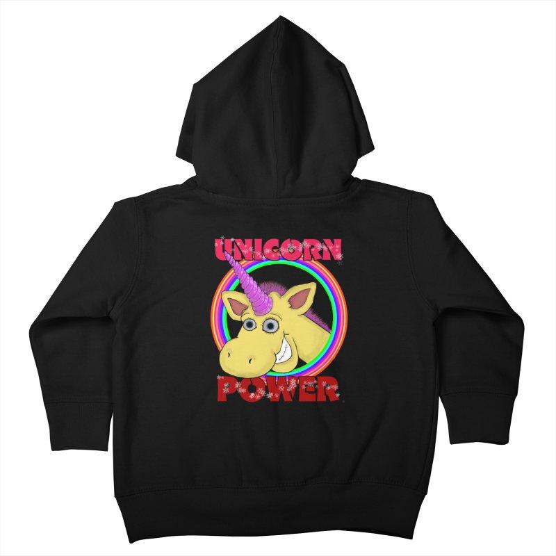 Unicorn Power Kids Toddler Zip-Up Hoody by Loganferret's Artist Shop