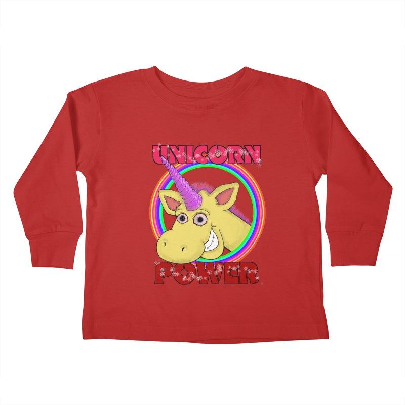 Unicorn Power Kids Toddler Longsleeve T-Shirt by Loganferret's Artist Shop