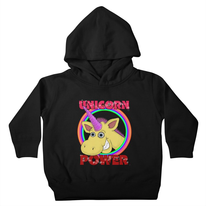 Unicorn Power Kids Toddler Pullover Hoody by Loganferret's Artist Shop