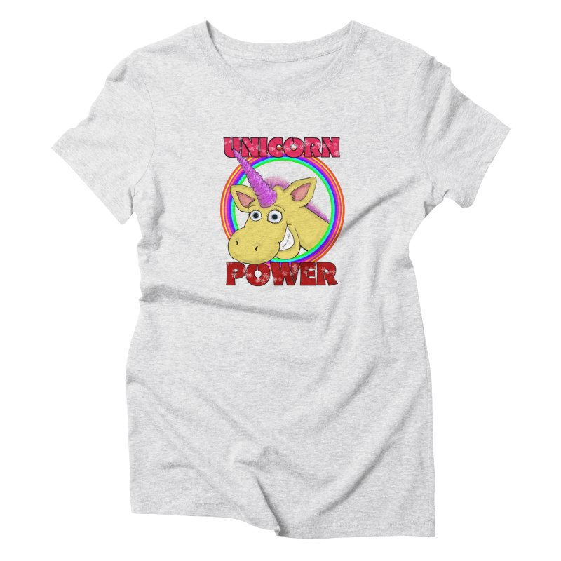 Unicorn Power Women's T-Shirt by Loganferret's Artist Shop
