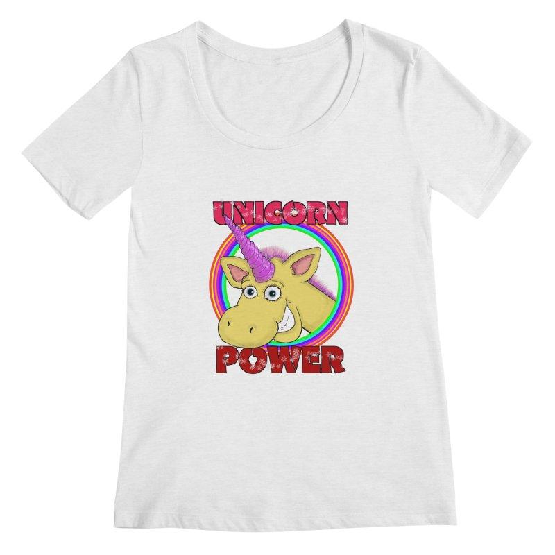 Unicorn Power Women's Scoop Neck by Loganferret's Artist Shop