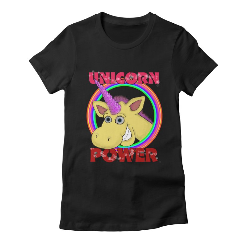 Unicorn Power Women's Fitted T-Shirt by Loganferret's Artist Shop