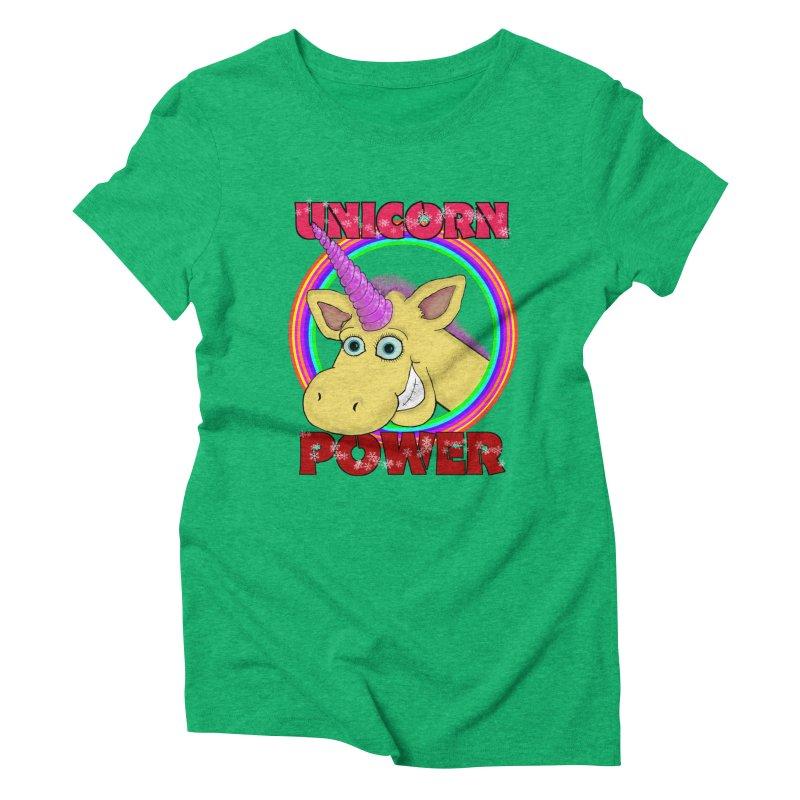 Unicorn Power Women's T-Shirt by Loganferret's Artist Shop