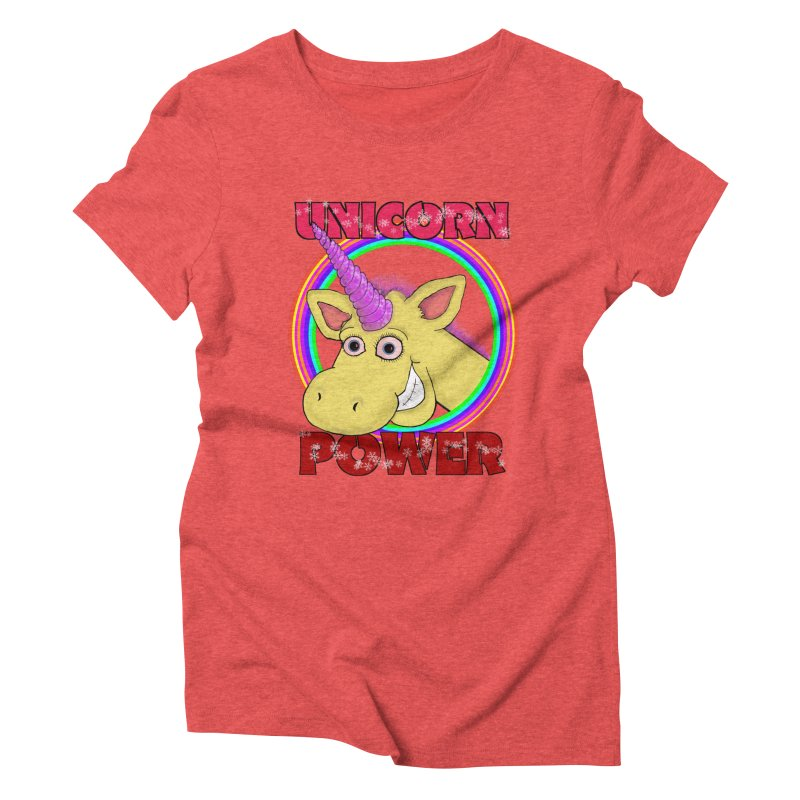 Unicorn Power Women's Triblend T-shirt by Loganferret's Artist Shop