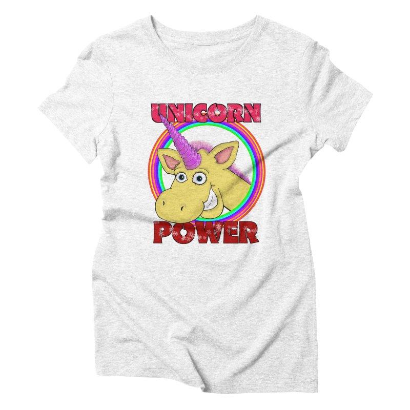 Unicorn Power in Women's Triblend T-shirt Heather White by Loganferret's Artist Shop