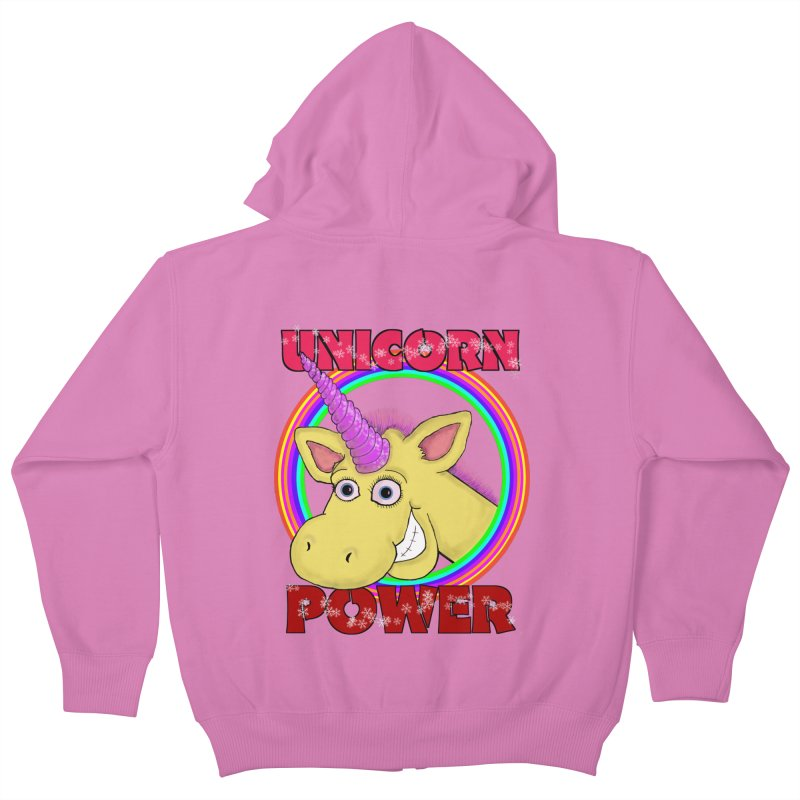 Unicorn Power Kids Zip-Up Hoody by Loganferret's Artist Shop