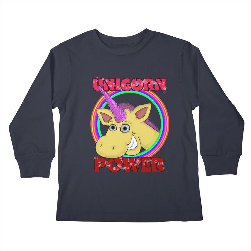 Unicorn Power Kids Longsleeve T-Shirt by Loganferret's Artist Shop