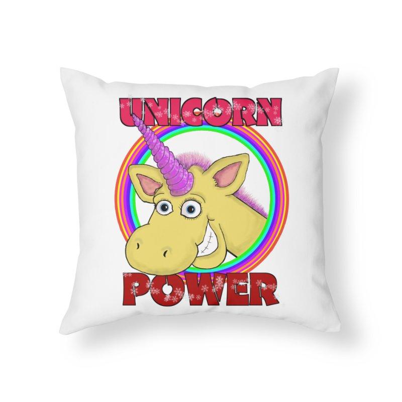 Unicorn Power Home Throw Pillow by Loganferret's Artist Shop