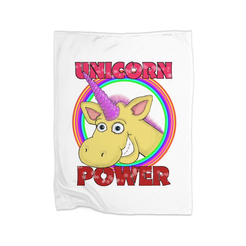 Unicorn Power Home Blanket by Loganferret's Artist Shop