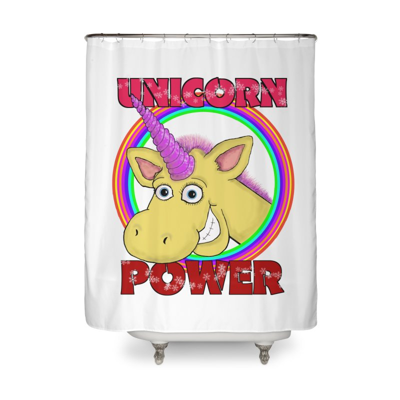 Unicorn Power Home Shower Curtain by Loganferret's Artist Shop