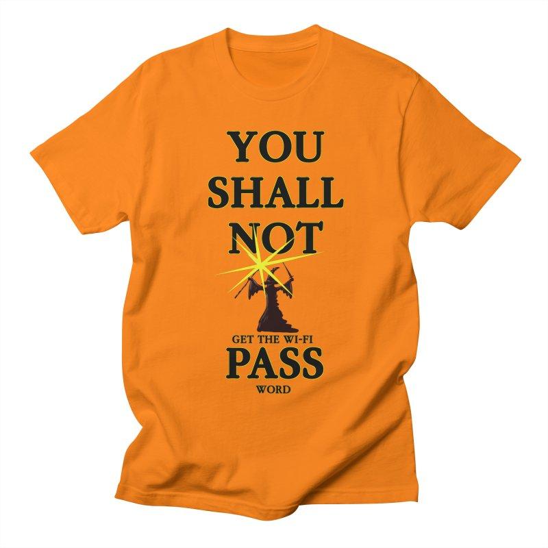 Wifi Password in Men's T-Shirt Orange by Loganferret's Artist Shop